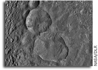 Image: Two Large Young Craters on Vesta As Seen From Orbit