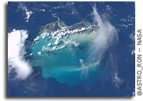 Photo: Turks, Caicos,  Little and  Big Ambergris Cay As Seen From Orbit