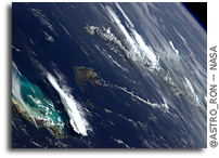 Photo: Turks, Caicos Islands, Inagua, and Cuba As Seen From Orbit