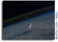 Photo: Shooting Star As Seen From Above The Sky - In Orbit