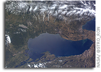 Photo: Finger Lakes As Seen From Orbit