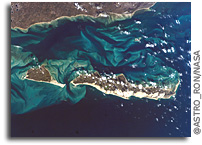 Photo: Islands in the Mozambique Channel: Bazaruto, St. Antonio, and Magaruque As Seen From Space