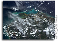 Photo: Isla Contoy, Isla Mujer, and Cancun, Mexico As Seen From the International Space Station