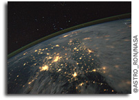 Photo: The Constellation Orion Over China and Korea As Seen From Space