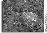MESSENGER image of Mercury: Crater Bek
