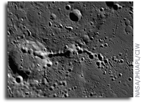 MESSENGER Image of Mercury: Trails of Small Craters