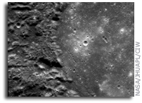 MESSENGER Image of Mercury: Petrarch Impact Basin