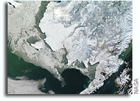 Photo: Winter in Alaska As Seen From Orbit