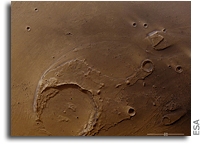 Mars Express Observes Clusters of Recent Craters in Mars's Ares Vallis