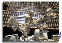 Canadian Space Agency Dextre Gets to Work