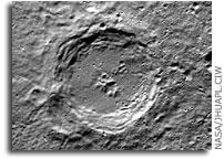NASA MESSENGER Mercury Image: Dickens Crater