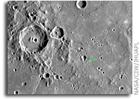 NASA MESSENGER Image: One of Mercury's Two 