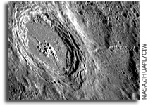 MESSENGER Image of Mercury: Oblique View of a Fresh Impact Crater