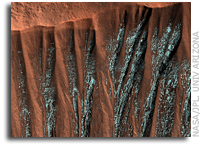 Image: Frosted Gullies in the Northern Summer on Mars
