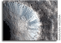 Image: Fresh Crater North of Tharsis Region on Mars