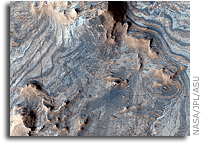 NASA MRO HiRISE Image of Mars: Light-Toned Layered Rocks in Arabia and East Xanthe Regions