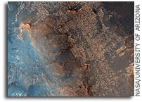 MRO HiRISE Image of Mars: Iazu Crater
