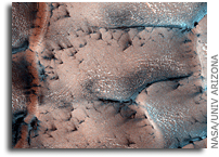 Image: Spring Fans Bursting from Cracks in Ice on Mars