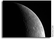 MESSENGER Image: A Crescent Mercury
