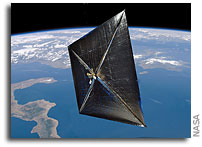 NASA's NanoSail-D Deploys Solar Sail in Low-Earth Orbit