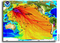 Image: NOAA Model of Honshu Tsunami Event