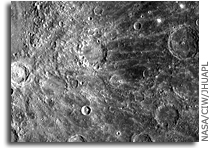 MESSENGER Image of Mercury: Crater Enwonwu