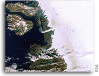 Photo: Sermeq Kujalleq Glacier, Greenland, As Seen From Space