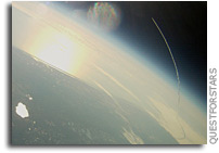 First Photo: Space Shuttle Endeavour Launch From Senatobia-1 Balloon at 64,000 feet
