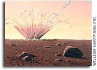 Meteorite Shock Waves Trigger Dust Avalanches on Mars