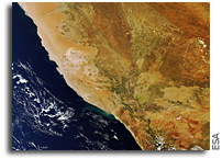 Image: Southern Namibia and Northern South Africa As Seen From Orbit