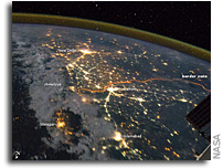 Photo: India-Pakistan Borderlands at Night As Seen From the International Space Station