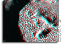 NASA MESSENGER Image of Mercury: Crater Kertesz in 3D