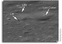 Image: Apollo 15 Landing Site In Great Detail
