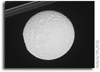 Cassini Photos: The Big Dent in Mimas