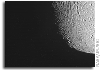 NASA Cassini Image of Saturn's Moon Enceladus