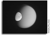 Image: Dione and Titan