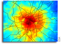 Satellites predict city hot spots