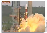 India's PSLV C-17 Rocket Successfully Launches GSAT-12 Telecommunications Satellite