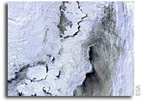 Photo: Galileo's Svalbard Satellite Station As Seen From Orbit