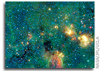 WISE image: Dark Murky Clouds in the Bright Milky Way