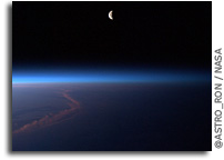 Photo: Half Moon Setting Over Afghanistan As Seen From Orbit