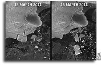 Images: Japan tsunami caused icebergs to break off in Antarctica