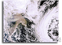 Satellites monitor Icelandic ash plume