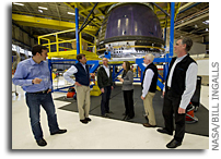 NASA Deputy Administrator Garver Tours Blue Origin - Announces April Engine Testing At NASA Stennis