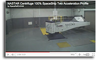Video: External View: NASTAR Centrifuge 100% SpaceShip Two Acceleration Profile