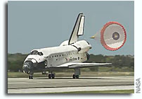 Space Shuttle Discovery Returns From Space For The Last Time