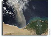 Photo: Dust Plume From Africa Over the Mediterranean Sea As Seen From Orbit