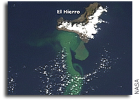 Photo: El Hierro Submarine Eruption As Seen From Space