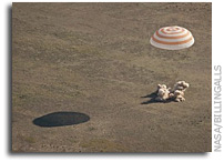 Expedition 27 Crew And Capsule Land Safely In Kazakhstan