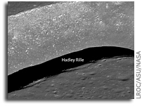LRO Image: Hadley Rille and the Mountains of the Moon